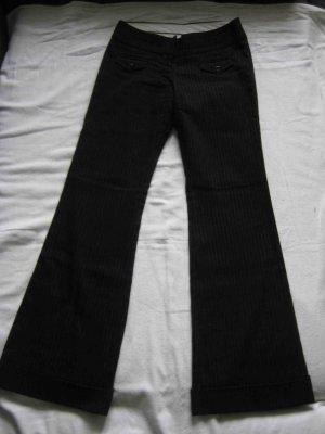 H&M Pantalon en laine gris anthracite-blanc