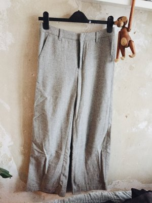 H&M Marlene Trousers grey-silver-colored