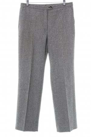Woolen Trousers natural white-black check pattern casual look
