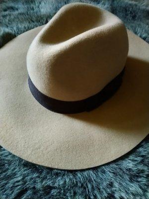 H&M Woolen Hat sand brown-black brown wool