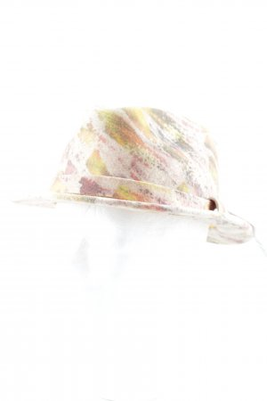 Wollen hoed kleurvlekken patroon vintage stijl