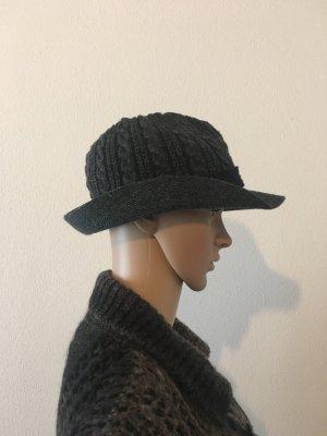 Cappello di lana grigio scuro-nero