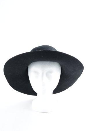 Sombrero de lana negro elegante