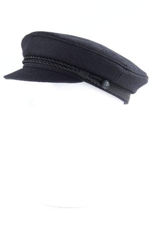 Cappello di lana nero stile classico