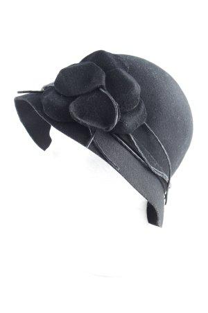 Wollhut schwarz klassischer Stil