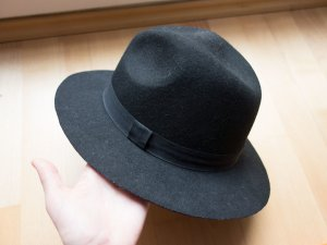 Vilten hoed zwart Wol