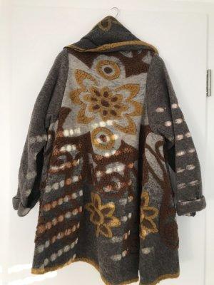 0039 Italy Veste en laine marron clair-brun sable