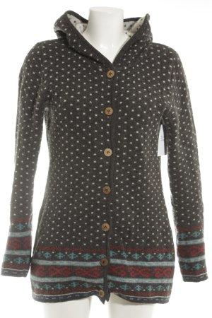 Giacca di lana motivo astratto stile casual