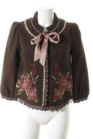 Wool Jacket flower pattern retro look
