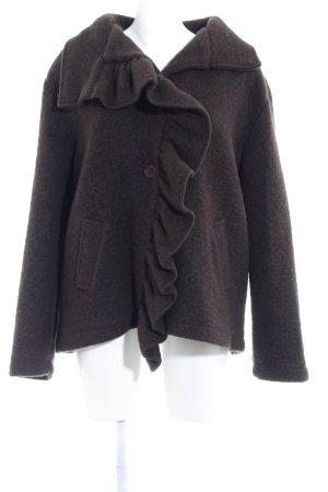 Wolljacke dunkelbraun 90ies-Stil