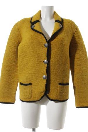 Giacca di lana giallo scuro elegante