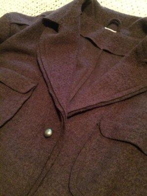 Veste en laine brun coton