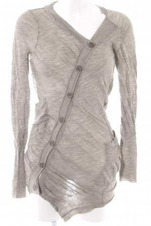 Giacca di lana grigio puntinato stile casual