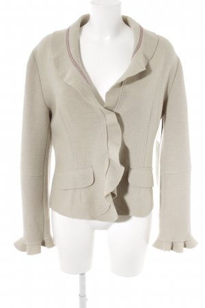 Wool Jacket oatmeal flecked casual look