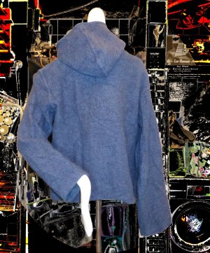 Wool Jacket petrol-dark blue wool