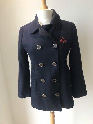 Donaldson Giacca di lana blu scuro-rosso