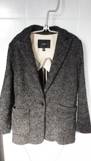 Mango Oversized Jacket dark grey