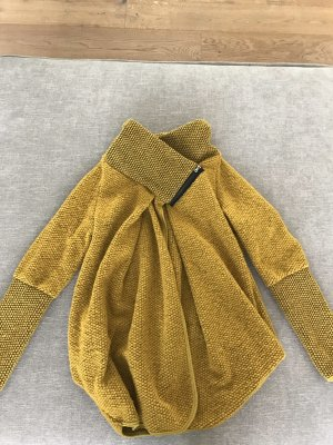 Chaqueta de lana negro-naranja dorado