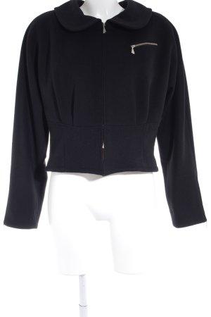 Chaqueta de lana negro elegante
