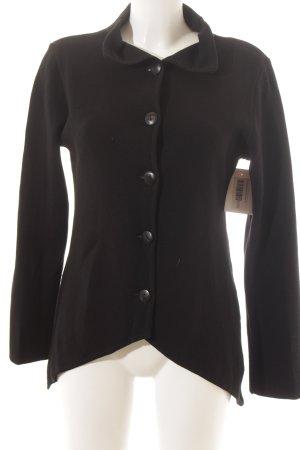 Wolljacke schwarz schlichter Stil