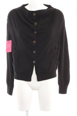 Giacca di lana nero-marrone-nero Stampa suggestiva stile stravagante