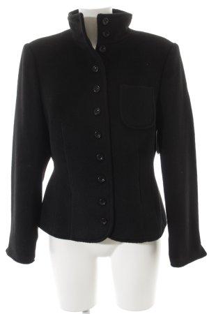 Veste en laine noir style mode des rues