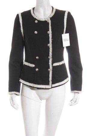 Giacca di lana nero-bianco stile classico