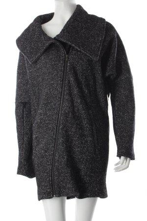 Wolljacke schwarz-weiß meliert klassischer Stil