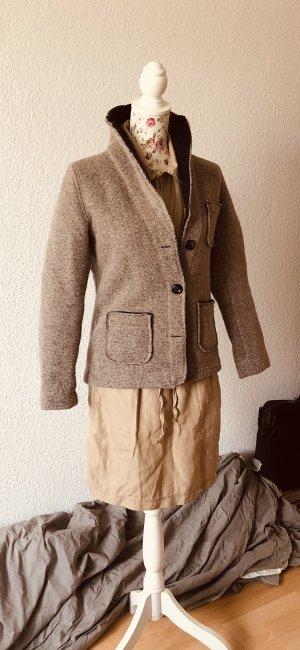 Made in Italy Veste en laine gris brun-beige