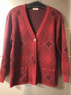 Giacca di lana nero-rosso scuro
