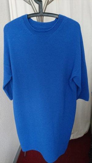 Vestido de lana azul-azul acero