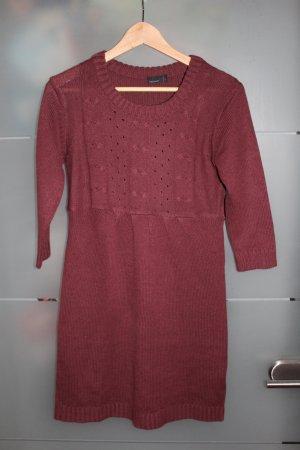 Wollkleid bordeaux rot der Marke VeroModa in Größe S