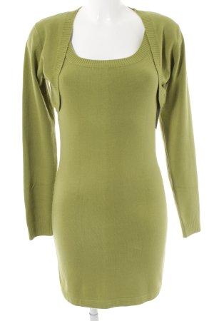 Vestito di lana verde prato stile casual