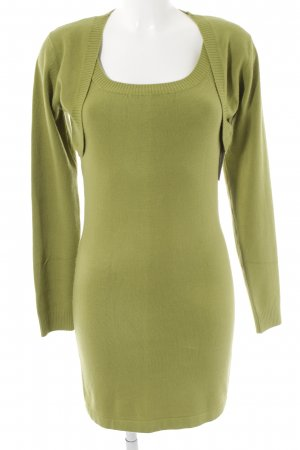 Wollkleid grasgrün Casual-Look