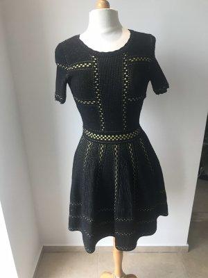 Wollkleid Luxus Kleid Dehnbar Gr M