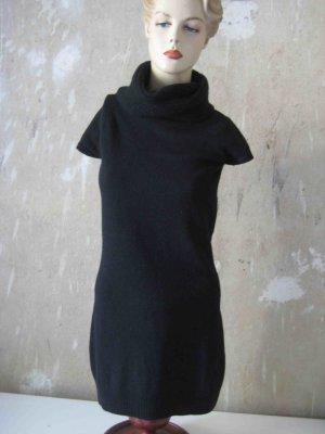 Wollkleid mit Kragen schwarz von Benetton - casual Look