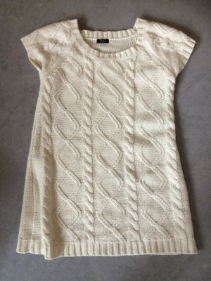 Ann Christine Woolen Dress white wool