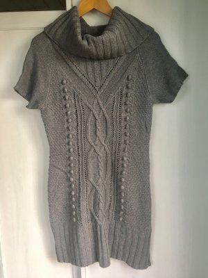 Wollkleid Strickkleid Kurzarmkleid Zopfmuster H&M Größe S Wolle Angora