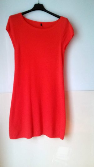 Benetton Robe en laine orange clair laine