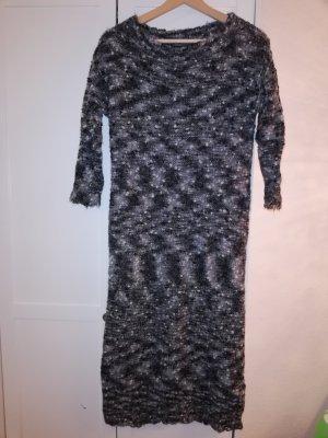 Benetton Vestido de lana gris-gris oscuro