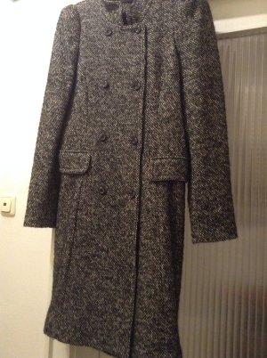 Zara Woman Manteau en laine multicolore