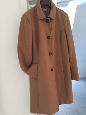 Benetton Short Coat camel wool