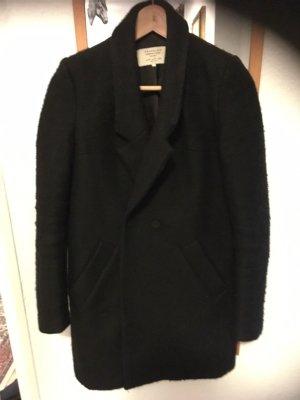 nuevo concepto fc171 e19f7 Zara Trafaluc Abrigo de lana negro
