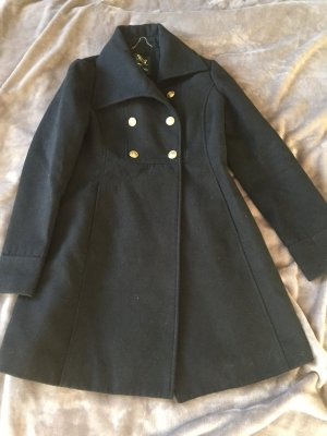 Clockhouse Manteau en laine noir-doré