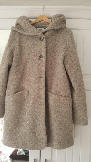 Abrigo de lana beige-marrón grisáceo Lana