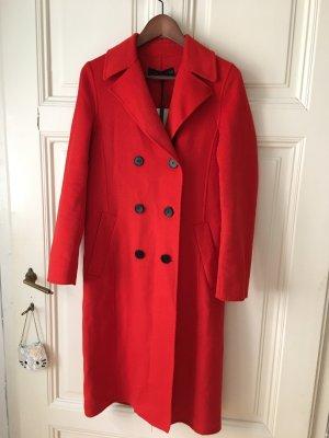 Zara Abrigo de lana multicolor Lana