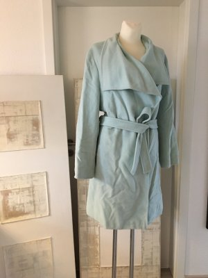 ae elegance Manteau en laine gris vert-blanc cassé