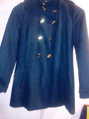 Vero Moda Manteau en laine doré-bleu foncé