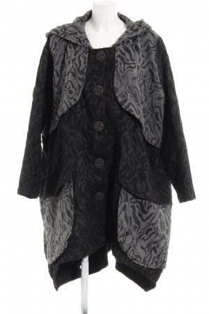 Cappotto in lana motivo animale stile casual