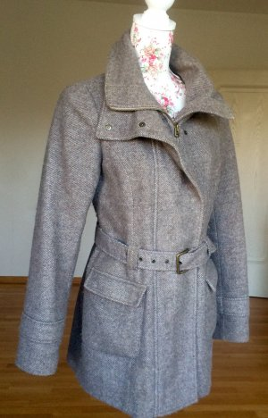 de.corp by Esprit Wool Coat grey brown